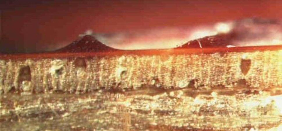 Kraterbildung Mikrotomschnitt
