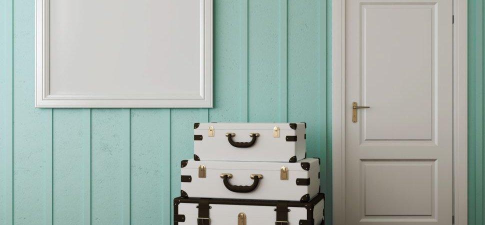 White-coated door